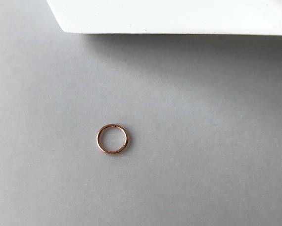 Anneau simple en OR rose 14K de 0.8mm d'épaisseur or