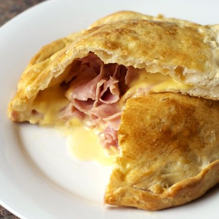 Grands biscuits made into a ham and cheese pocket