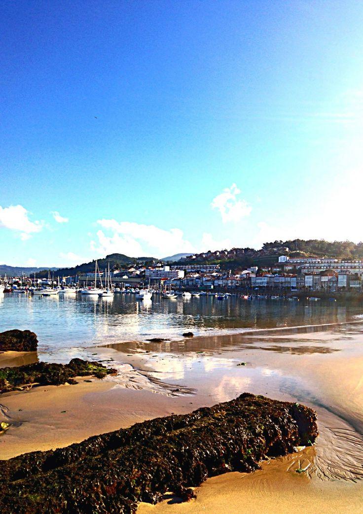 Playa de A Ribeira. Baiona. (Pontevedra). Galicia. Spain.