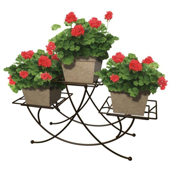 Bronze Metal Plant Stand Holder Planter Box Garden Flower