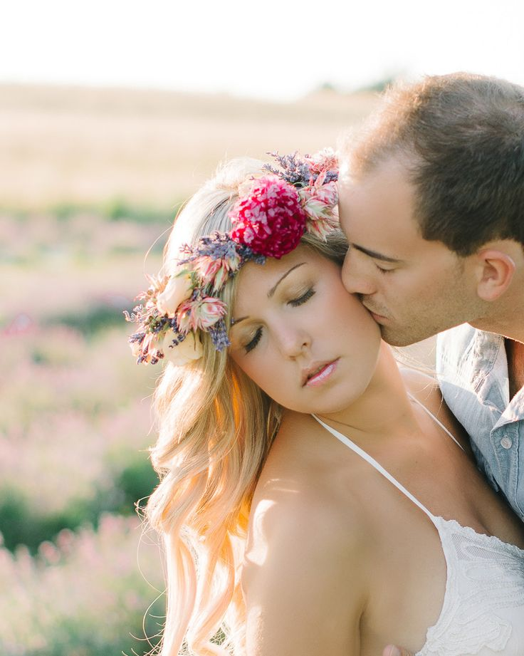 Photography: Destiny Dawn Photography - www.destinydawnphotography.com  Read More: http://www.stylemepretty.com/canada-weddings/2014/08/19/lavender-farm-engagement-session/