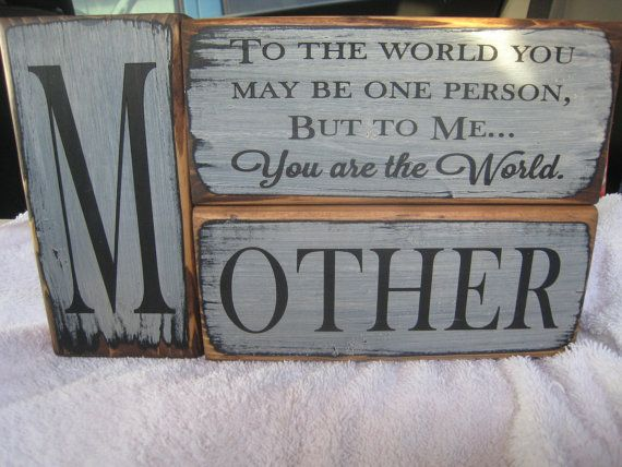 3pc Mother Block Set Handpainted Rustic Style by ExpressionsNmore, $24.95