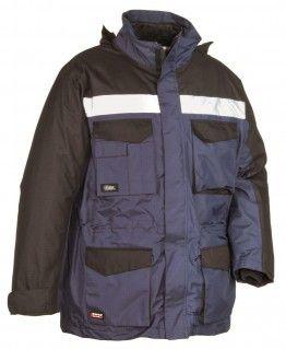 Cofra Hailstorm  Navy / Black Zip Bomber, Harrington Mens Hi Vis Work Jacket - £29.99