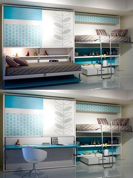 Más de 1000 ideas sobre camas para ahorrar espacio en pinterest ...
