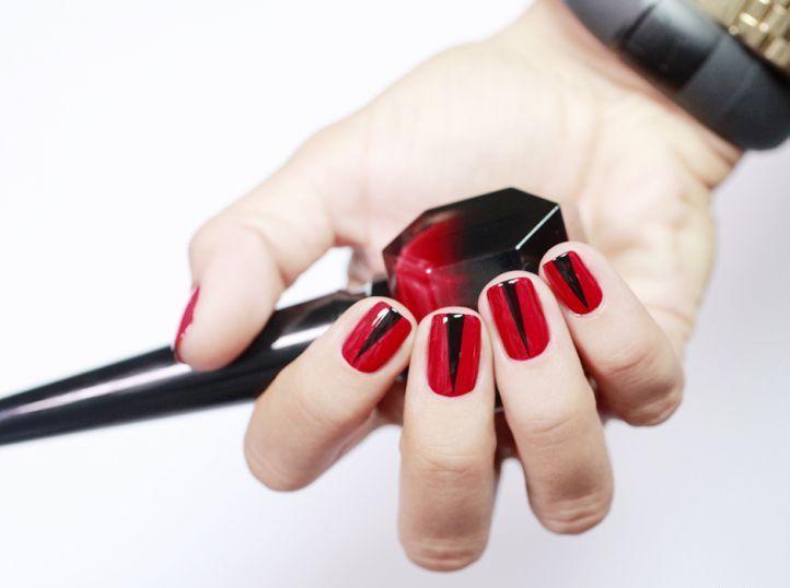 cool Необычный красно-черный маникюр (50 фото) — Свежие идеи дизайна