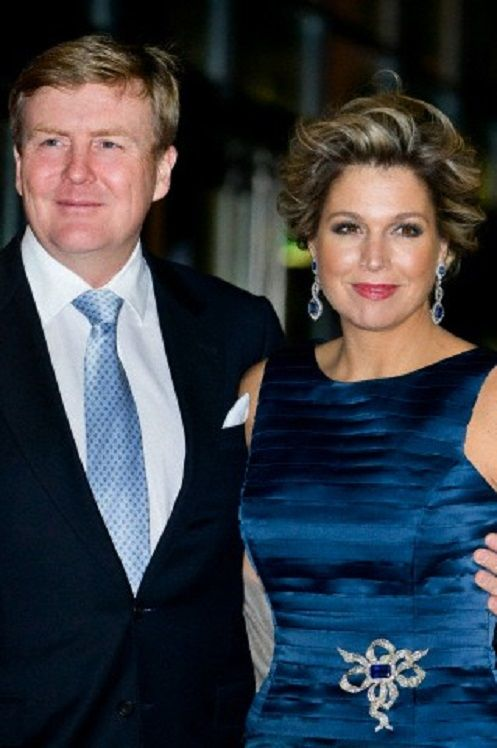 King Willem-Alexander and Queen Maxima of The Netherlands attend the national celebration of Queen Beatrix's reign in Ahoy Rotterdam, The Netherlands, 01 Feb 2014