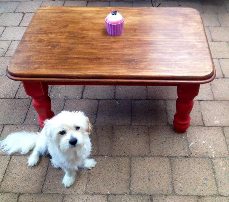 Upcycled coffee table. Refabbed furniture. Annie Sloan Chalk Paint