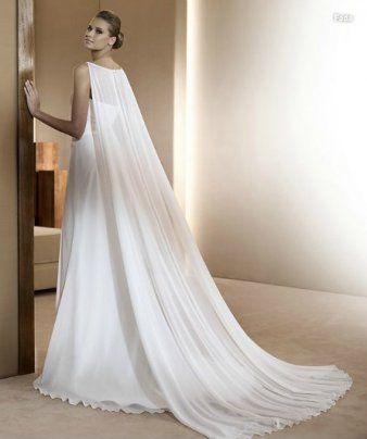 Daisy robe de mariée empire luxe grand châle cape