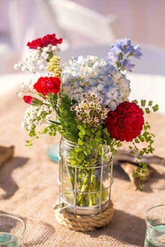 12 Festive Red, White and Blue Wedding Ideas   TheKnot.com