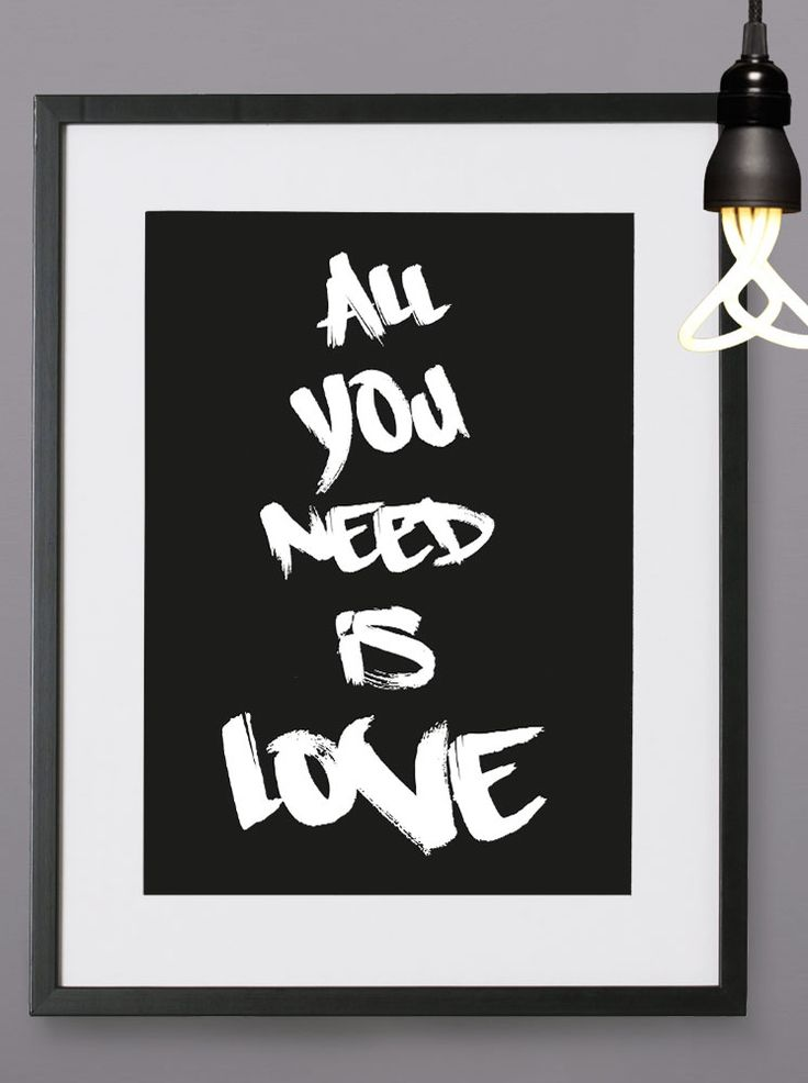 All you need is - Personalised print from MAYKI