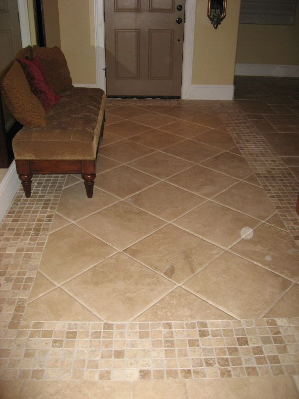Image Result For Travertine Inlay Border Floor Floor Tile Design