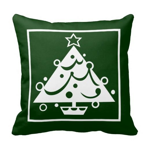Modern Christmas Tree Throw Pillow Christmas Pinterest Trees, Modern and Modern christmas ...