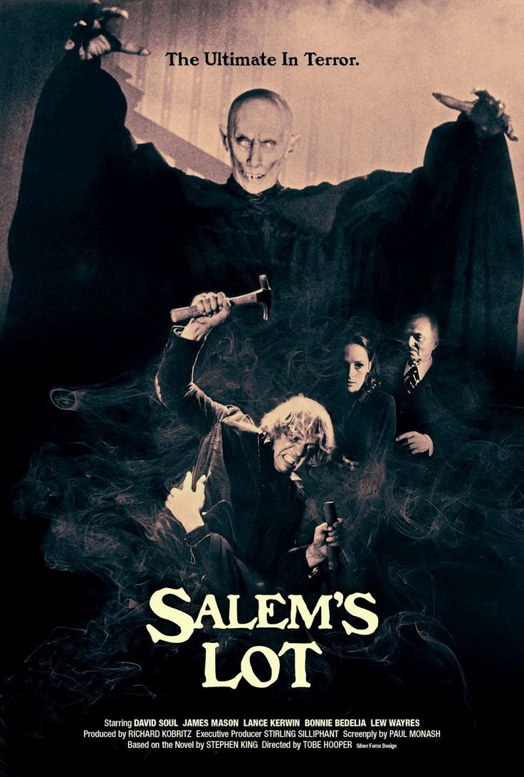 Salem's Lot, 1979 TV Mini Series: Stars David Soul, James Mason, Lance Kerwin, Bonnie Bedelia    Young novelist returning home to Salem's Lot after many years is disturbed by the strange behaviour of its people. He begins to believe that the source of the trouble may be the eerie old Marsten House that overlooks the town.