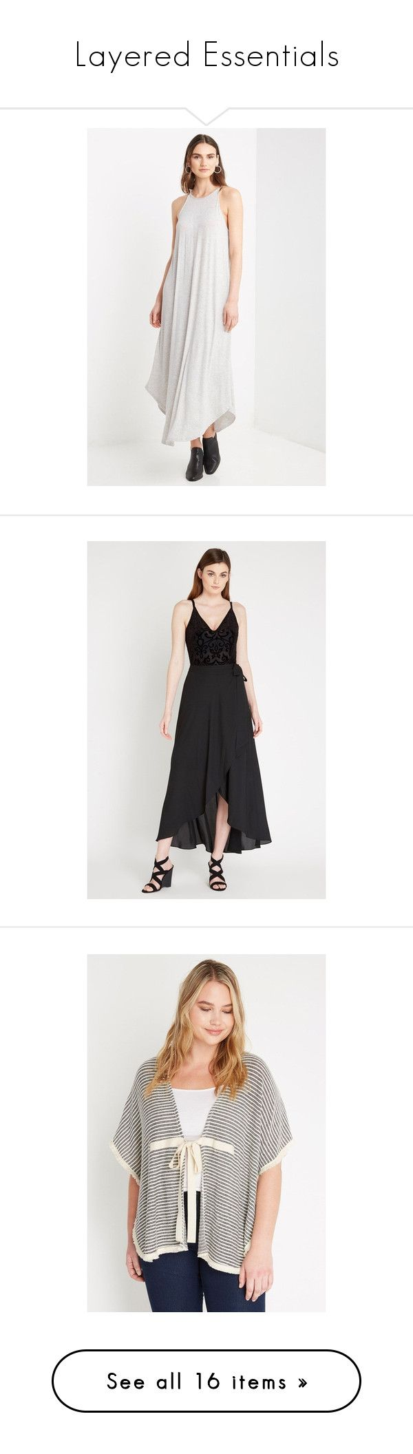 """""""Layered Essentials"""" by poshsquare on Polyvore featuring dresses, halter-neck maxi dresses, halter dress, halter-neck dress, halter neck maxi dress, maxi length dresses, skirts, maxi skirts, tulip maxi skirt and tulip skirts"""