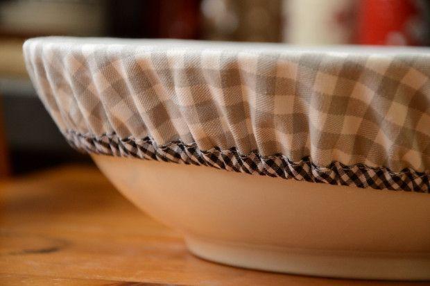 Couvercle en tissus à coudre, pour couvrir les grands saladiers. (idéal pour faire lever une pâte)