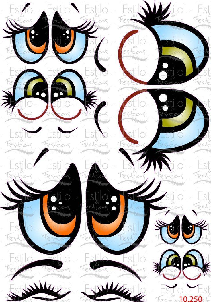 Adesivo para balão Cartela Olhos de anjo com Expressão Acessorios para Festas Estilo e Festas