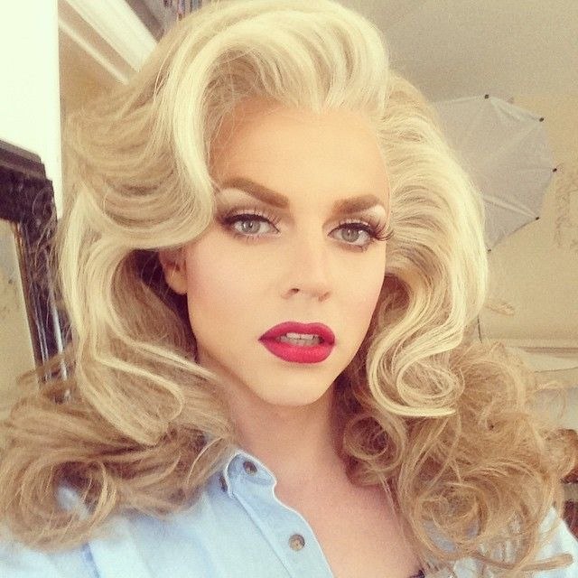 Photoshoot with @magnushastings for his book #whydrag @bearchic did a delightful job on this hair!
