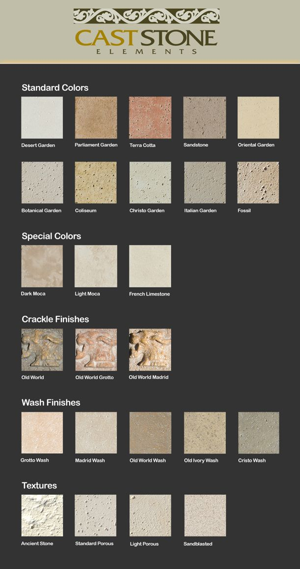 Cast Stone Elements - Cast Stone Fireplace Mantels and Cast Stone Furniture by Cast Stone Elements - Cultured Stone Fireplace Mantles - Custom Scagliola Stone Architectural Designs and Custom Outdoor Furniture.