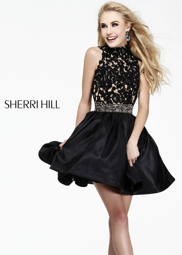 Will know, Sherri hill short black lace dress can