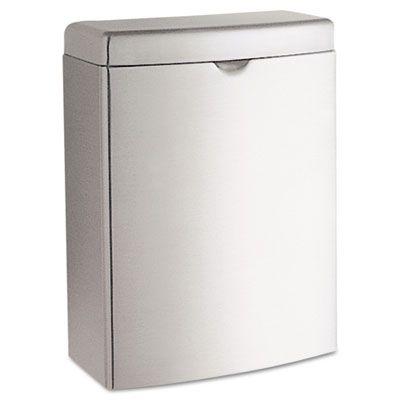 Bobrick contura wall mount trash receptacle attractive - Commercial bathroom waste receptacles ...
