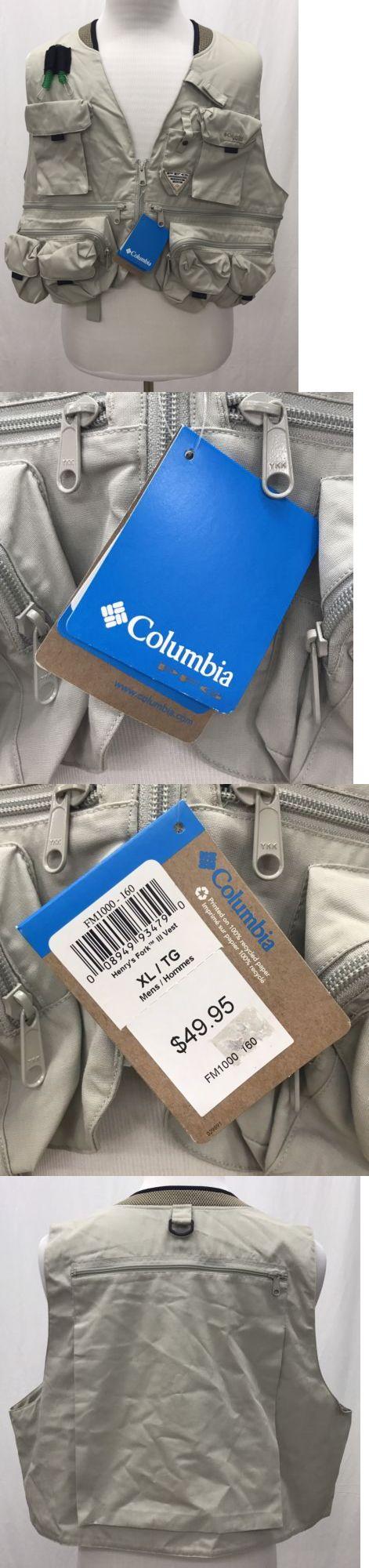 Vests 65982: Nwt Columbia Henry S Fork Ii Fishing Vest - Men S Xl - Msrp $49.95 -> BUY IT NOW ONLY: $34.99 on eBay!