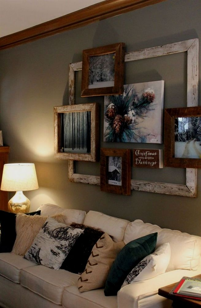 Decoration ideas above the sofa make your sitting room stand out