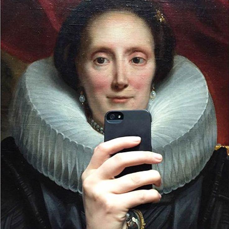 LeprojetMuseum of Selfie imaginé parOlivia Muus, qui proposeune approche moderne de la peinture classique, transformant les traditionnels portraits en