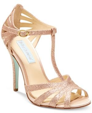 Blue by Betsey Johnson Tee Evening Sandals - Gold 8.5M