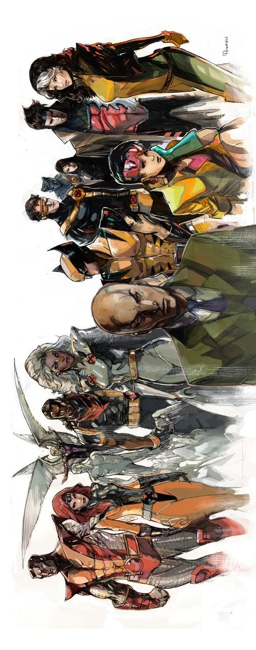 X-Men Team Gold and Blue by Peter Nguyen *
