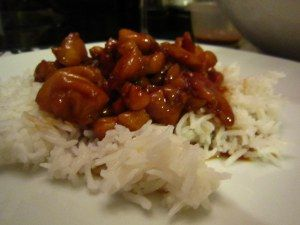 From The Domestic Blonde, chicken teriyaki adapted from Nigella Lawson.