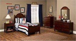 Westfield Bed Twin Rails Nightstand Dresser Mirror Chest by Hillsdale