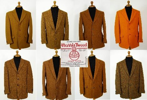 Ginger Harris Tweed jacket. Mens ginger Harris Tweed jackets.. pure wool mens ginger Harris Tweed jackets in plain, check, herringbone and patterned Harris Tweed @ http://www.tweedmansvintage.co.uk
