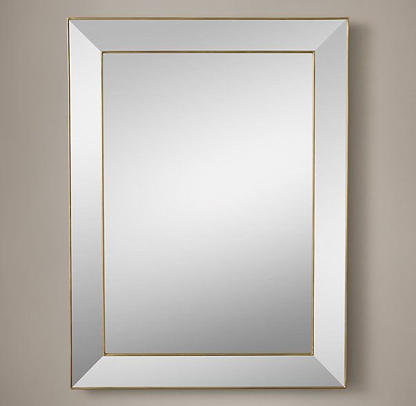 alto mirror 36 quot x 48 quot brass master bath