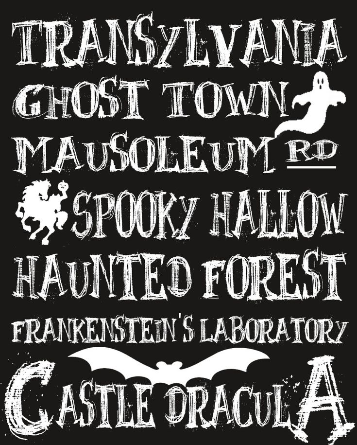 Halloween's Spooky Places {Free Printable} - The Love Nerds