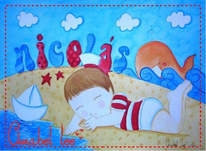 Ilustración personalizada para Nicolás