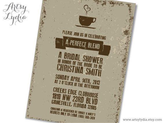 b17a0974d7d5 Perfect Blend Coffee Themed Bridal Shower Invitation Printable PDF ...