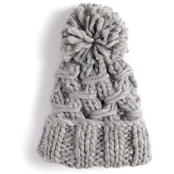 27c0231e8 Forever21 Chunky Cable-Knit Beanie ($13) ❤ liked on Polyvore ...