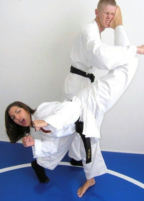 Erotic judo by a nasty woman
