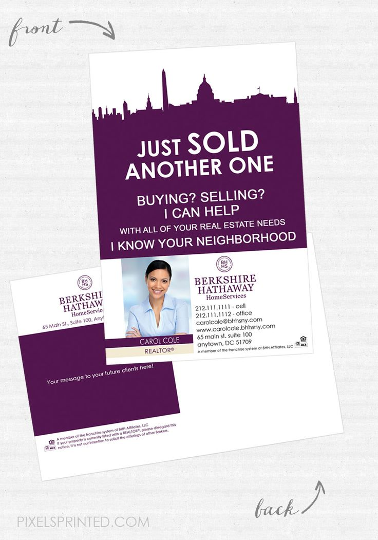 Berkshire Hathaway postcards BHHS postcards real estate