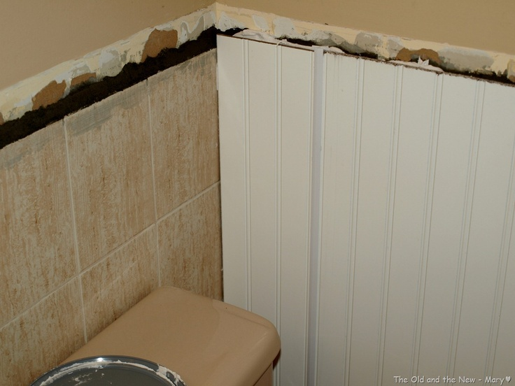 Bathroom Tiles Over Tiles : Good bye old tile beadboard over bathrooms