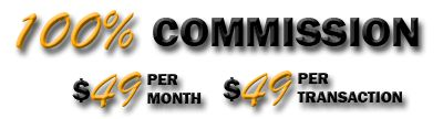 100% commission programs, real estate agents get 100% of the commission. The most innovative 100 percent Real Estate brokerage in the state of Florida.http://www.thek100.com/