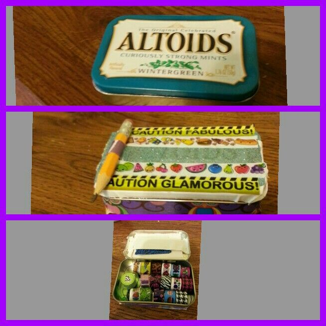 Awesome altoid tin transformation cute little card making kit just hand it out to people who look like that are having a bad day All you need is a tin some tapeffitti (found at five below) and duct tape