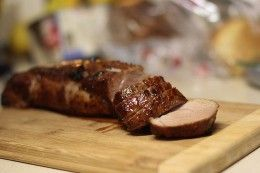 Basic pork tenderloin recipe for perfect pork. The trick is to sear it first until its brown all around and then finish it in the oven at 400