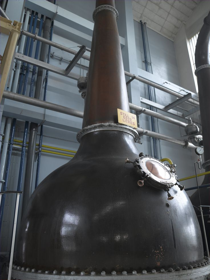 A still in the Beefeater Distillery