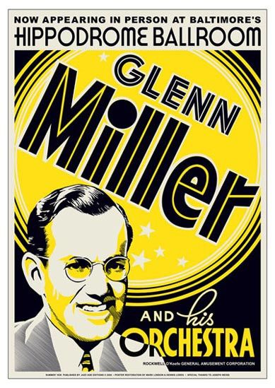 "Glenn Miller Glenn Miller and His Orchestra Appearing Live at Baltimore's Hippodrome Ballroom Jazz Posters - Decorate your Wall - Unframed Size - 17 x 24 ""A Visual Inspiration for any Dance Class"" The"