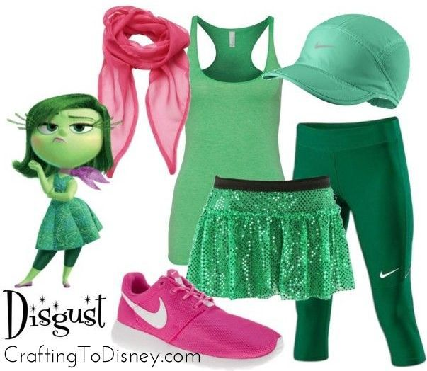 Disgust inside out running outfit