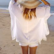 beach kimono video tutorial - would love to make this with a darker patterned material and a lace. Good spring wear.