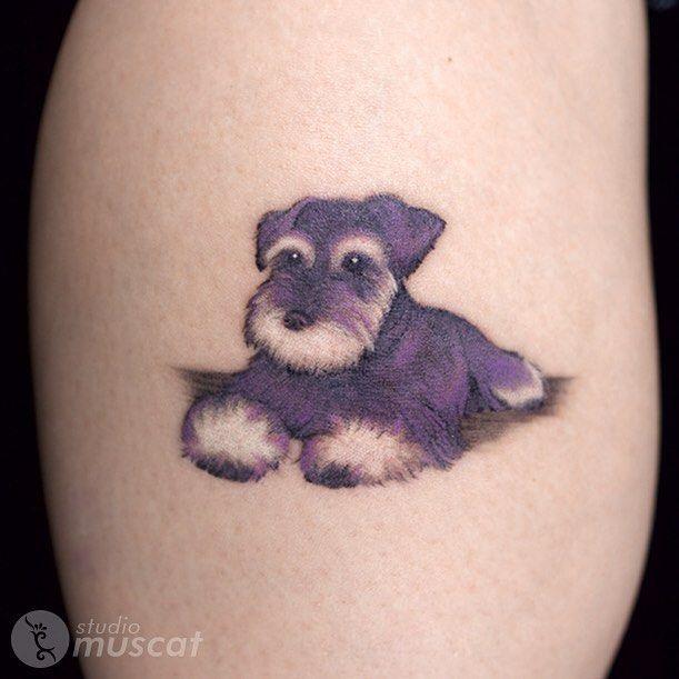 Dog by Haruka 犬のタトゥー by 晴香 #harukamuscat #studiomuscat #muscattattoo #tattoo…