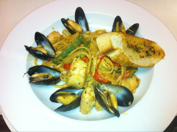 Cajun Scallops and Mussel LinguiniFresh Catching, Daily Fresh