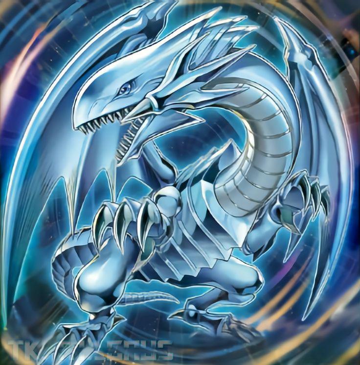Blueeyes white dragon rush duel clean art by tkhan1 on